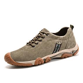 olcso Férfi sportcipők-Férfi Kényelmes cipők Disznóbőr Tavasz / Ősz Sportcipők Túrázó Sötétkék / Khakizöld