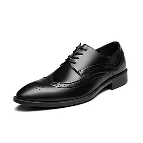 baratos Oxfords Masculinos-Homens Sapatos de couro Couro Primavera Verão Casual Oxfords Respirável Preto / Lantejoulas