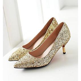 povoljno Pumps cipele-Žene Cipele na petu Udobne cipele Niska potpetica Traper Proljeće Obala / Crn / Pink / Dnevno