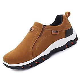 baratos Sapatos Esportivos Masculinos-Homens Sapatos Confortáveis Couro Ecológico Outono Tênis Caminhada Preto / Cinzento Escuro / Khaki