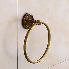 abordables Crochets à Peignoir-Crochet à Peignoir Design nouveau Antique Laiton 1pc anneau de serviette Montage mural