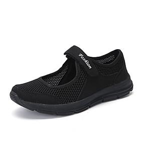baratos Sapatos Esportivos Femininos-Mulheres Tênis Sapatos Confortáveis Sem Salto Ponta Redonda Com Transparência Esportivo Fitness Verão Cinzento Escuro / Cinzento Claro / Vinho