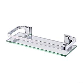 hesapli Banyo Rafları-Banyo Rafı Yeni Dizayn / Havalı Modern Aluminyum 1pc Duvara Monte Edilmiş