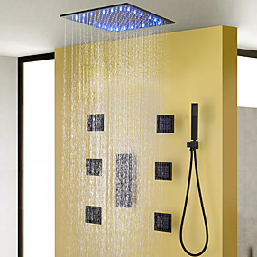 povoljno Slavine za tuš-Slavina za tuš - Suvremena Slikano završi Sustav za tuširanje Keramičke ventila Bath Shower Mixer Taps / Brass
