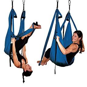 voordelige Pilates-Rekband Yoga riem Polyesteri Verstelbare D-ringsluiting stretching Verbetering van flexibiliteit Yoga Voor Binnen Fitness Voor Dames
