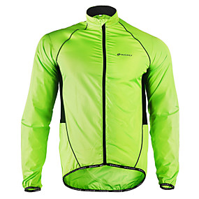 cheap Free shipping over $100, Sports & Outdoor-Nuckily Men's Cycling Jacket Bike Jacket Windbreaker Raincoat Waterproof Windproof Breathable Sports Polyester Winter Green Mountain Bike MTB Road Bike Cycling Clothing Apparel Advanced Relaxed Fit