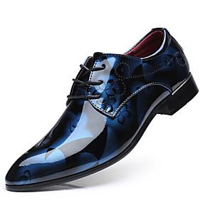 baratos Oxfords Masculinos-Homens Sapatos formais Couro Ecológico Primavera Negócio Oxfords Amarelo / Vermelho / Azul