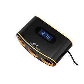 お買い得  車用チャージャー-車の充電器ソケットデュアルusbポート3車のシガーライター急速充電電圧ledデジタルディスプレイ
