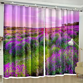 povoljno 3D zavjese-Moderna 3D zavjese Dvije zavjese Zavjesa / Zamračenje / Bedroom