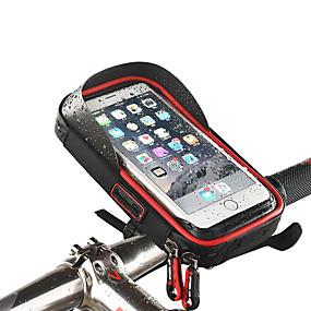 Недорогие Бардачки на руль-Wheel up Сотовый телефон сумка Бардачок на руль Сенсорный экран Водонепроницаемость Отверстие для гарнитуры Велосумка/бардачок ТПУ губка Нейлон Велосумка/бардачок Велосумка iPhone X / iPhone XR