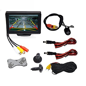 cheap Super Clearance-BYNCG WG4.3T-4LED 4.3 inch TFT-LCD 480TVL 480p 1/4 inch color CMOS Wired 120 Degree 1 pcs 120 ° 4.3 inch Rear View Camera / Car Reversing Monitor / Car Rear View Kit Waterproof / LED indicator