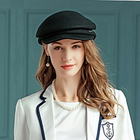povoljno Kentucky Derby Hat-100% vuna Kentucky Derby Hat / kape s Nabori 1pc Kauzalni / Dnevni Nosite Glava