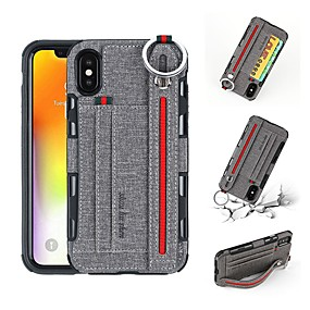 cheap iPhone Cases-Case For Apple iPhone XR / iPhone XS Max Wallet / Card Holder / Shockproof Back Cover Solid Colored Hard PU Leather for iPhone XS / iPhone XR / iPhone XS Max