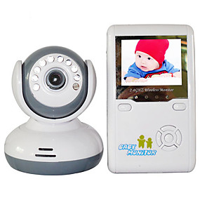 "billige IP-kameraer-baby monitor 9020d 380tvl 1/4 ""cmos 70 ° nattesyn rekkevidde 2-3 m 2.4ghz 2,4"" tft lcd"