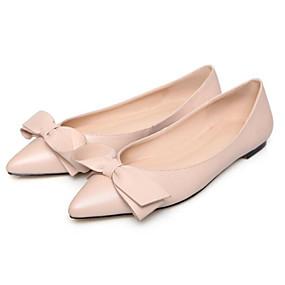 voordelige Damesschoenen met platte hak-Dames Comfort schoenen Nappaleer Zomer Platte schoenen Platte hak Zwart / Rood / Roze