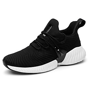 cheap Running Shoes-Men's Comfort Shoes Knit Spring Sporty / Casual Athletic Shoes Running Shoes Massage Black / Gray / Red