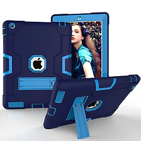 cheap Tablet Accessories-Cooho Case For Apple iPad (2018) / iPad Air 2 / iPad (2017) Shockproof / Dustproof / Water Resistant Full Body Cases Geometric Pattern Hard Silicone / PC for iPad Air / iPad 4/3/2 / iPad (2018)