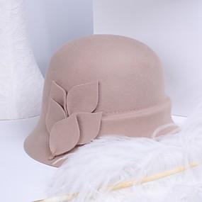 povoljno Kentucky Derby Hat-100% vuna Kentucky Derby Hat / kape s Scattered Bead Floral Motif Style 1pc Kauzalni / Dnevni Nosite Glava
