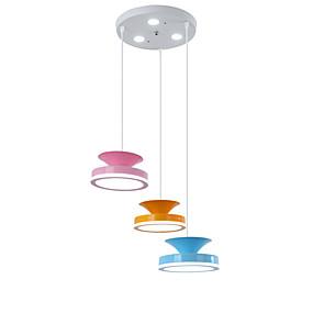 abordables Plafonniers-QINGMING® 3 lumières Mini Lampe suspendue Lumière d'ambiance Finitions Peintes Métal Style mini 110-120V / 220-240V Bayadère / VDE