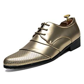 baratos Oxfords Masculinos-Homens Sapatos Confortáveis Couro Ecológico Inverno Casual Oxfords Não escorregar Preto / Branco / Dourado