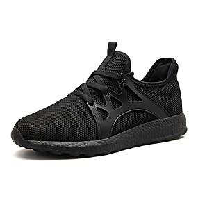 baratos Sapatos Esportivos Masculinos-Homens Sapatos Confortáveis Couro Ecológico Inverno Tênis Caminhada Preto / Branco / Preto / Vermelho