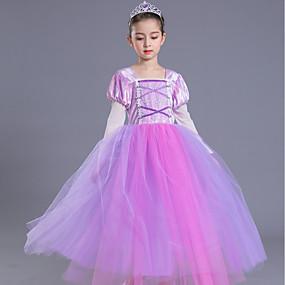 038a3c2801cd Πριγκίπισσα Βίντατζ Στολές Κοριτσίστικα Παιδικά Φορέματα Κοστούμι πάρτι  Βυσσινί Πεπαλαιωμένο Cosplay Αμάνικο Φανέλα