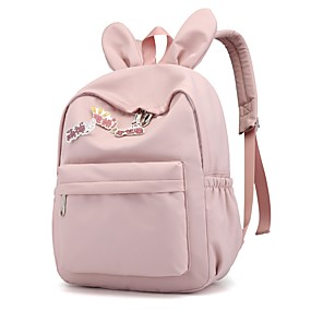 cheap Intermediate School Bags-Women's / Girls' Bags Nylon School Bag Pattern / Print Solid Color Pink / Gray / Sky Blue