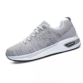 cheap Running Shoes-Men's Comfort Shoes Elastic Fabric / Tissage Volant Winter Sporty Athletic Shoes Running Shoes Non-slipping Color Block Black / Dark Blue / Gray