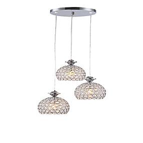 cheap Pendant Lights-3-Light Cluster Chandelier / Pendant Light Ambient Light Chrome Metal Crystal, Mini Style, LED 110-120V / 220-240V Warm White / White Bulb Not Included / E26 / E27