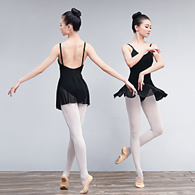 988808f65657 Μπαλέτο Φορέματα Γυναικεία Εκπαίδευση   Επίδοση Ελαστίνη   Λίκρα  Κυματοειδές   Διαφορετικά Υφάσματα Αμάνικο Φόρεμα