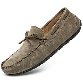 baratos Sapatos Náuticos Masculinos-Homens Sapatos de couro Camurça Primavera & Outono Casual / Formais Sapatos de Barco Massgem Cinzento / Vermelho / Khaki