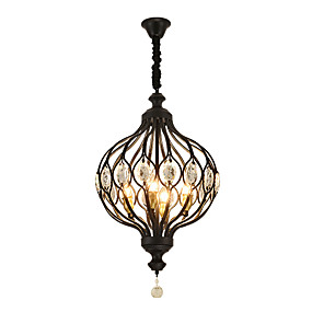 abordables Plafonniers-ZHISHU 4 lumières Globe Lampe suspendue Lumière dirigée vers le haut Finitions Peintes Métal Créatif 110-120V / 220-240V