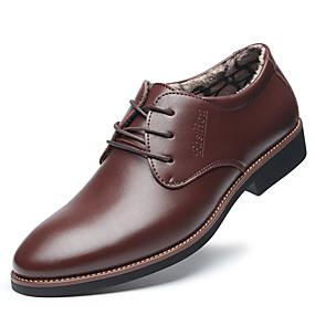 baratos Oxfords Masculinos-Homens Sapatos Confortáveis Microfibra Inverno Casual Oxfords Manter Quente Preto / Marron / Festas & Noite / Festas & Noite