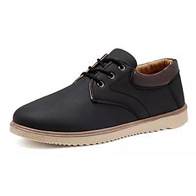 baratos Oxfords Masculinos-Homens Sapatos Confortáveis Couro Ecológico Inverno Oxfords Preto / Azul / Khaki / Ao ar livre