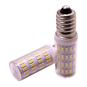 billige Kornpærer med LED-2pcs 4 W 360 lm E14 LED-kornpærer 63 LED perler SMD 4014 Nytt Design Varm hvit / Kjølig hvit 12 V