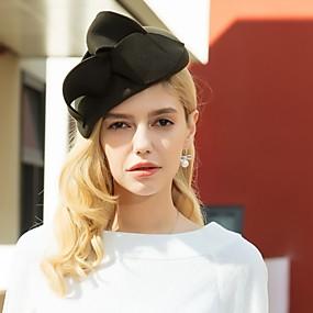 povoljno Kentucky Derby Hat-100% vuna Šeširi s Mašnica 1pc Kauzalni / Dnevni Nosite Glava