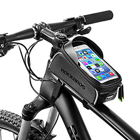 preiswerte Fahrradrahmentaschen-ROCKBROS Handy-Tasche Fahrradrahmentasche 6 Zoll Wasserdicht Tragbar Radsport für iPhone X iPhone XR iPhone XS Schwarz Fahhrad / iPhone XS Max