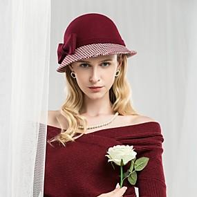 povoljno Kentucky Derby Hat-100% vuna Kentucky Derby Hat / kape s Mašnica 1pc Kauzalni / Dnevni Nosite Glava