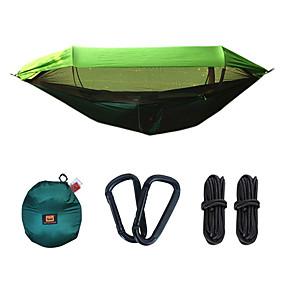 ieftine Sports & Outdoors-Hamac Camping cu Plasă de Țânțari În aer liber Ușor Uscare rapidă Rezistent la Ultraviolete Parachute Nylon pentru 1 persoană Pescuit Camping Portocaliu Verde Închis Verde Militar