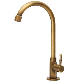 cheap Free Shipping-Kitchen faucet - Single Handle One Hole Electroplated Standard Spout Ordinary Kitchen Taps
