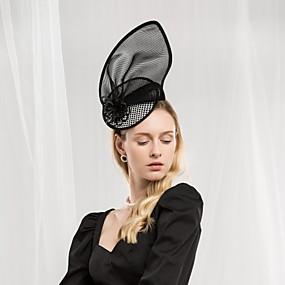 povoljno Kentucky Derby Hat-Til / Poliester Kentucky Derby Hat / Trake za kosu s Cvjetni print 1pc Special Occasion / Zabava / večer Glava