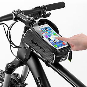 a95382f2daf ROCKBROS Bolso del teléfono celular Bolsa para Cuadro de Bici 6 pulgada  Pantalla táctil Reflexivo Impermeable Ciclismo para Todo Teléfono móvil  iPhone X ...