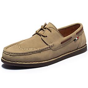 944864ca3c Ανδρικά Δερμάτινα παπούτσια Σουέτ Άνοιξη   Χειμώνας Βίντατζ   Καθημερινό  Παπούτσια Boat Μη ολίσθηση Μαύρο   Γκρίζο   Χακί