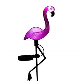 halpa Polun valot-1kpl aurinko nurmikko valot flamingo puutarha sisustus aurinko valot vedenpitävä led valo ulkona puutarha koriste vaarnan valaistus