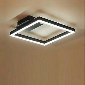tanie Mocowanie przysufitowe-KAKAXI Geometryczny Lampy sufitowe Downlight Szczotkowany Aluminium Akryl Wiele tonów, Przygaszanie 220-240V Przyciemnianie pilotem