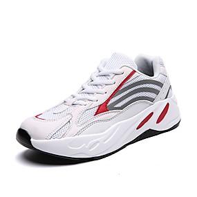 baratos Tênis Masculino-Homens Sapatos Confortáveis Com Transparência Primavera Verão Casual Tênis Respirável Preto / Branco / Cinzento
