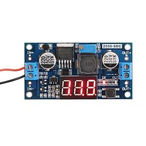 זול חיישנים-lm2596 אנלוגי השליטה באק שנאי dc-dc מתח מפחית הרגולטור מודול מייצב עם אדום led להציג voltmeter