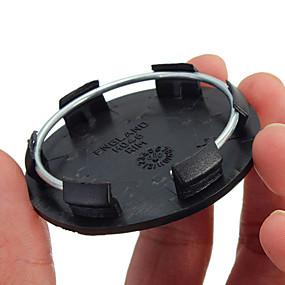 Недорогие Декор на колёса авто-50 мм черные автомобильные колеса по центру заглушки колпачка крышки нет логотипа