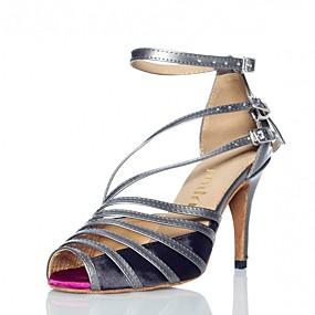 b90f2a57b19f Žene Cipele za latino plesove Saten Sandale   Štikle Kopča Tanka visoka  peta Moguće personalizirati Plesne cipele Tamno siva