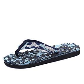 cheap Women's Slippers & Flip-Flops-Women's / Unisex Canvas Summer Slippers & Flip-Flops Flat Heel Blue / Pink / Black / Blue